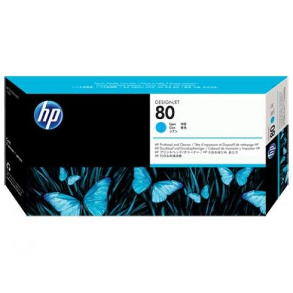 Cabeçote de Impressão Com Limpador HP 80 - Ciano (Cyan) - C4821A