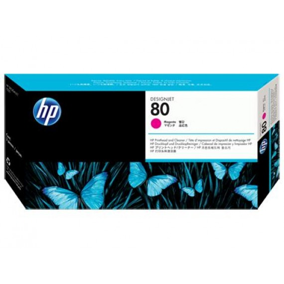 Cabeçote de Impressão Com Limpador HP 80 - Magenta - C4822A