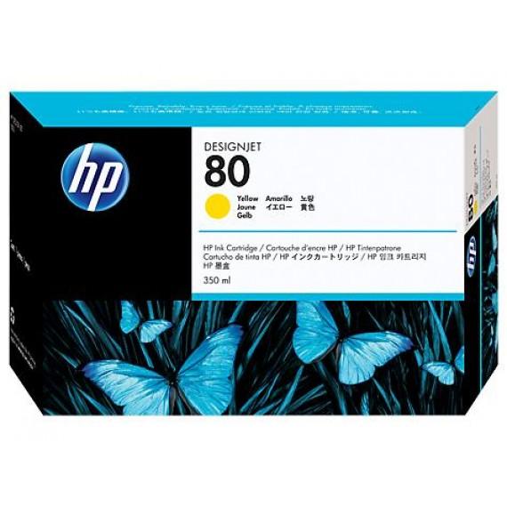 Cartucho de Tinta HP 80 Amarelo 350 ml - C4848A