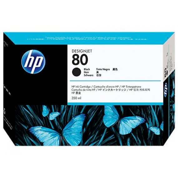 Cartucho de Tinta HP 80 Preto 350 ml - C4871A