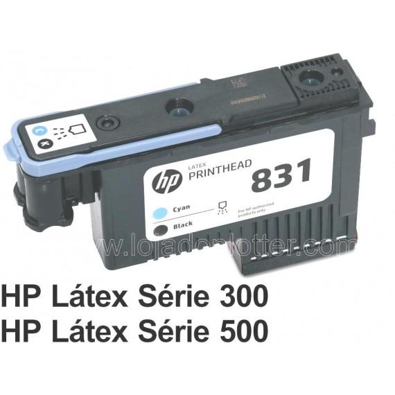 Cabecote Impressao Ciano e Preto HP 831A  - CZ677A  Plotter HP Latex