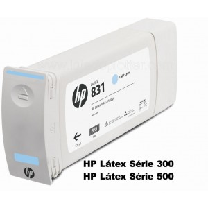 Cartucho Plotter HP Latex cor Ciano Claro HP 831A de 775ml Plotter HP - CZ686A