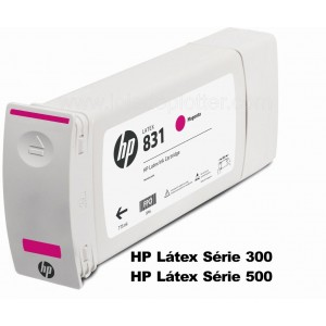 Cartucho Plotter HP Latex cor Magenta HP 831A de 775ml Plotter HP - CZ684A
