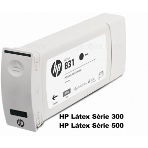 Cartucho Plotter HP Latex cor Preto HP 831A de 775ml Plotter HP - CZ682A