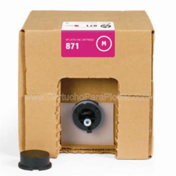 G0Y80D Cartucho de tinta Magenta HP Latex 871A de 3 litros