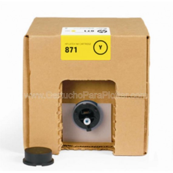 G0Y81D Cartucho de tinta Amarelo HP Latex 871A de 3 litros