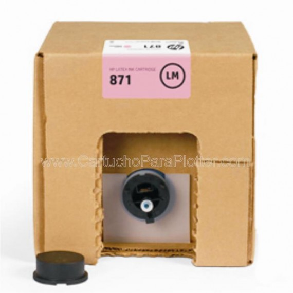 G0Y84D Cartucho de tinta Magenta Claro HP Latex 871A de 3 litros