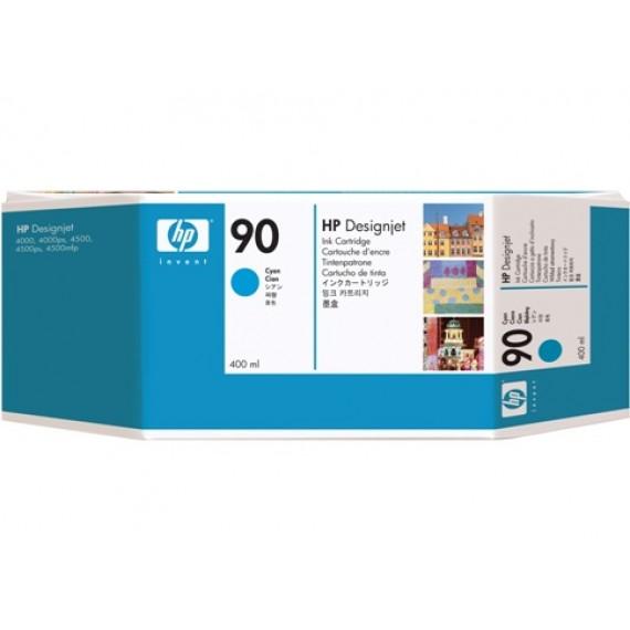 Cartucho de Tinta HP 90 Ciano 400 ml - C5061A