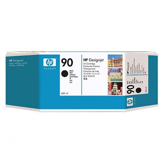 Cartucho de Tinta HP 90 Preto 400 ml - C5058A