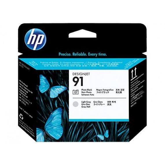 Cabeçote de Impressão HP 91 -  Preto Fotográfico e Cinza Claro - C9463A