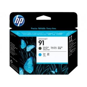Cabeçote de Impressão HP 91 - Preto Fosco e Ciano - C9460A