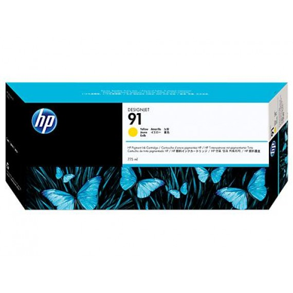 Cartucho HP 91 - Tinta Amarelo 775 ml - C9469A