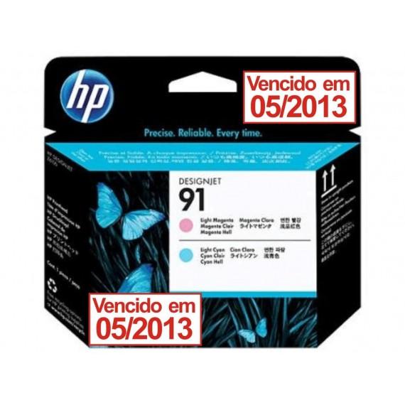 Cabeçote de Impressão HP 91 - Magenta Claro e Ciano Claro - C9462A - vencido 05/2013