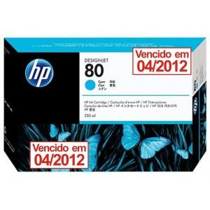Cartucho de Tinta HP 80 Ciano 350 ml - C4846A - vencido 04/2012