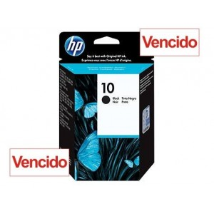 Cartucho HP 10 - Tinta Black (Preto) 69 ml - C4844A - Vencido