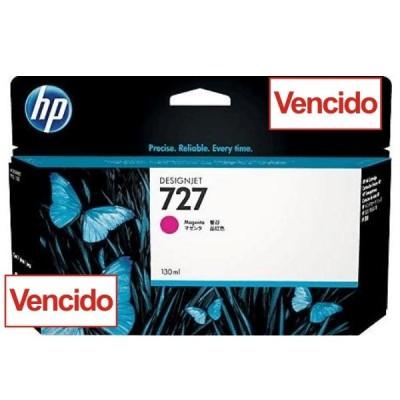 Cartucho HP 727 - Tinta Magenta 130 ml - B3P20A para Plotter HP Designjet T920, T930, T1500, T1530, T2500 e T2530 - Vencido