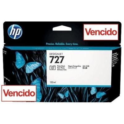 Cartucho HP 727 - Tinta Preto Fotografico (PK) 130 ml - B3P23A para Plotter HP Designjet T920, T930, T1500, T1530, T2500 e T2530 - Vencido
