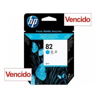 Cartucho HP 82 - Tinta Ciano 69 ml - C4911A - Vencido
