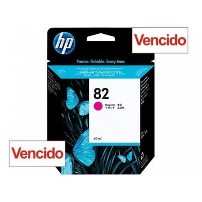 Cartucho HP 82 - Tinta Magenta 69 ml - C4912A - Vencido