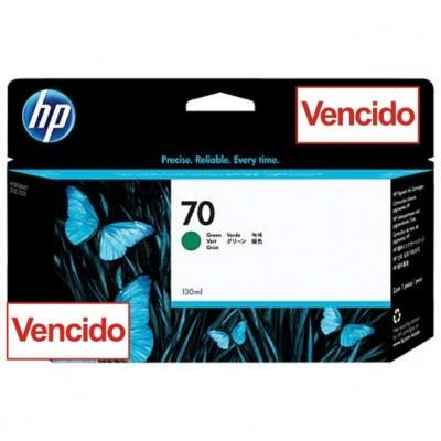 Cartucho Para Plotter HP 70 - Verde 130 ml - C9457A- Vencido